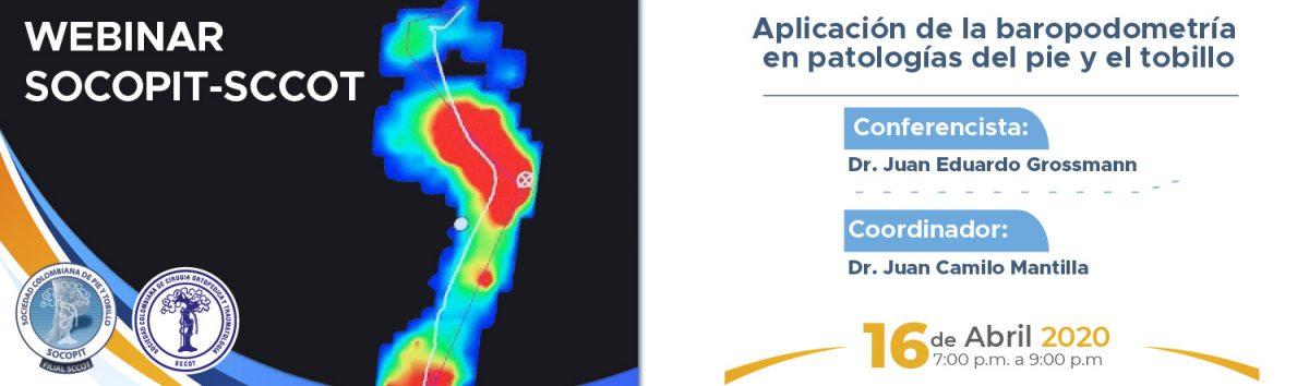 Webinar Aplicación de la baropodometría en patologías del pie y el tobillo
